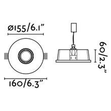 Lámpara empotrable NEU blanca y redonda Ø15,5cm...