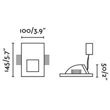 Lámpara empotrable PLAS-3 LED blanca 10x14,5cm...