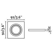 Lámpara empotrable RADÓN-C blanca y cuadrada 9,2x9,2cm Faro