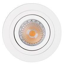 Lámpara empotrable RADÓN-R blanca y redonda Ø9,2cm Faro