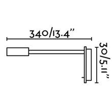 Aplique lector JULIET LED cromo con USB