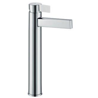 Grifo alto de lavabo cromado/blanco Imex Elba
