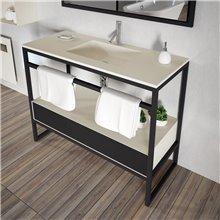 Mueble con lavabo metálico GUADA de Doccia