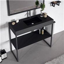 Mueble auxiliar con lavabo metálico LUPE Doccia