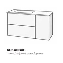 Mueble con lavabo y espejo fenólico ARKANSAS de Doccia