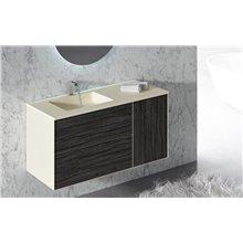 Mueble con lavabo y espejo metálico ARKANSAS de Doccia