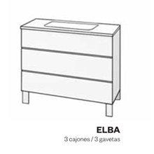 Mueble con lavabo y cajones de fenólico ELBA Doccia