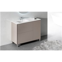 Mueble con lavabo y espejo fenólico LOIRA Doccia