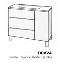 Mueble con lavabo fenólico DRAVA Doccia
