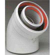 Accesorios calderas de condensación curva coaxial 45º 60/100 FERROLI