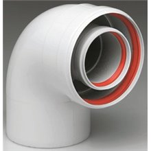 Accesorios calderas de condensación curva coaxial 90º 80/125 FERROLI