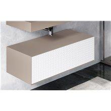 Mueble auxiliar metálico con cajón ROTI Doccia