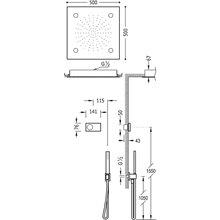 Kit de ducha termostático electrónico TRES