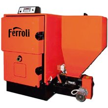 Caldera industrial de biomasa de agua ARES 100 FERROLI