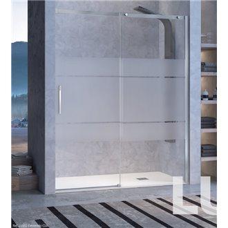 Mampara puerta corredera para ducha decorado Clio LU102 Kassandra