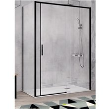 Mampara angular puerta corredera y lateral fijo para ducha MS102 Kassandra