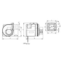 Quemador FERROLI LOW NOx de 1 etapa, modelo FOCUS pro 3, serie LAMBORGHINI