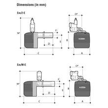 Quemador FERROLI, modelo EM 26/M-E. D7, serie LAMBORGHINI