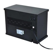 Chimenea eléctrica de pie 34x17x25cm negra Homcom