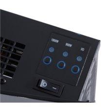 Chimenea eléctrica de pared 65x11,4x52cm negra Homcom