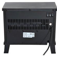 Chimenea eléctrica de pie 34,5 x17 x31cm negra Homcom