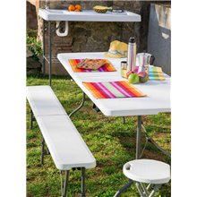 Taburete plegable blanco EASY STOOL de Resol