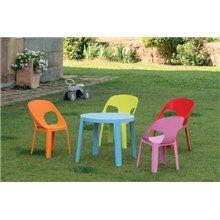 Set de 4 mesas infantiles azules Rita Resol