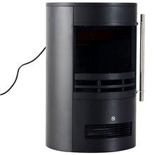Chimenea eléctrica de pie 41x41x64,5cm negra...
