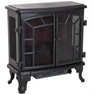 Chimenea eléctrica de pie 63,5x30,5x67,5cm negra Homcom