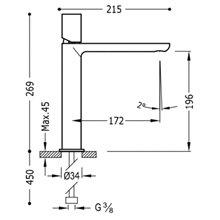 Grifo de lavabo Naranja M TUB TRES LOFT