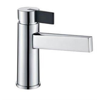 Grifo lavabo cromado/negro Imex Elba