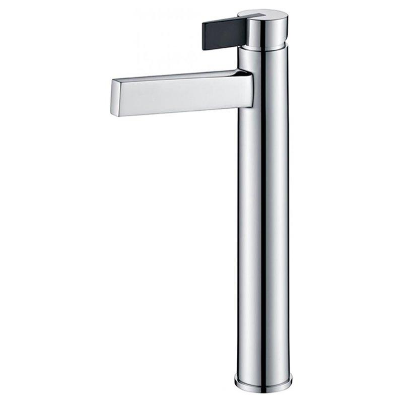 Grifo alto de lavabo cromado/negro Imex Elba