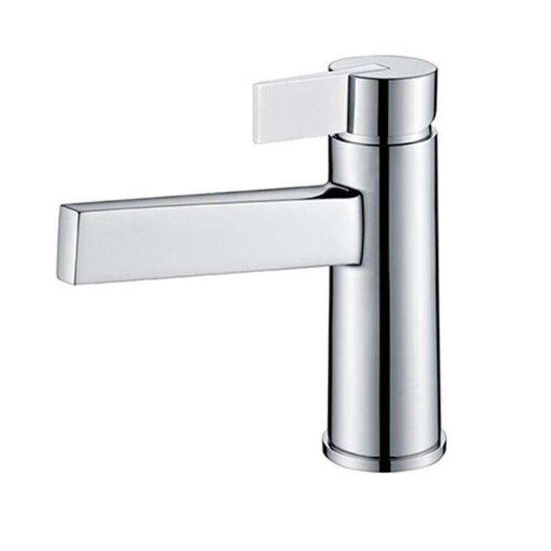 Grifo lavabo cromado/blanco Imex Elba