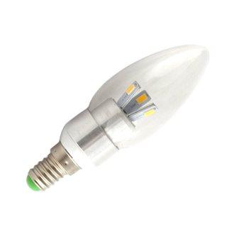 Bombilla LED vela de 3W  E14 Plata