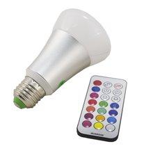 Bombilla LED con luz RGBW de 10W E27