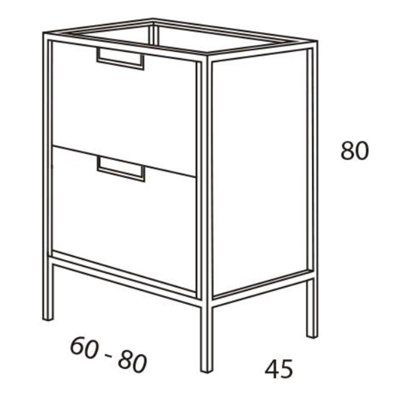 Mueble de ba o vintage futurba o c vintage materiales de for Mueble bano vintage