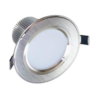 Foco LED Downlight 7W GRAN ANGULAR plata