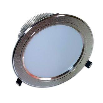 Foco LED Downlight 15W GRAN ANGULAR plata