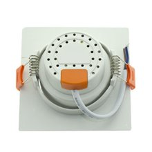 Foco LED cuadrado direccionable 12W blanco PC