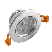 Foco LED circular direccionable 3W plata