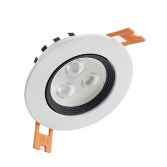 Foco LED circular direccionable 3W blanco