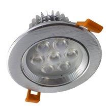 Foco LED circular direccionable 7W plata