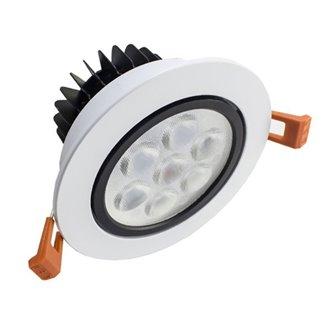 Foco LED circular direccionable 7W blanco