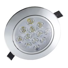 Foco LED circular direccionable 12W plata