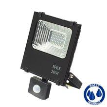 Proyector LED cuadrado 20W con sensor