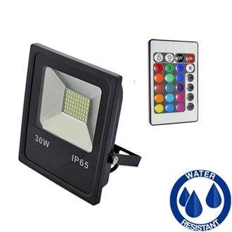 Proyector LED cuadrado 30W PLANO RGB