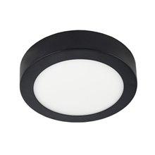 Plafón LED redondo Ø17x4cm 12W negro