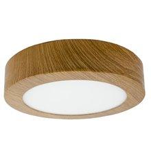 Plafón LED redondo Ø17x4cm 12W madera