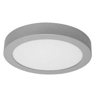 Plafón LED redondo Ø22x4cm 18W plata