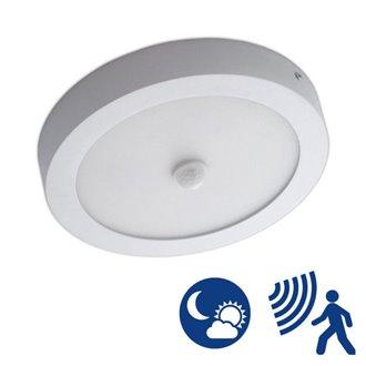 Plafón LED detector de presencia y sensor crepuscular 18W blanco